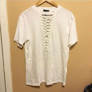 Forever 21 Lace Up Tee