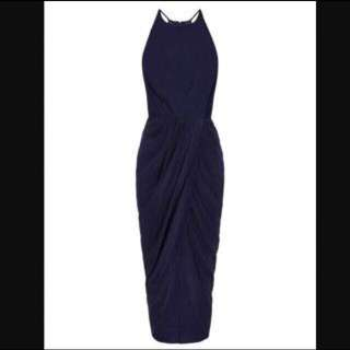 Rodeo Show Navy Silk Dress