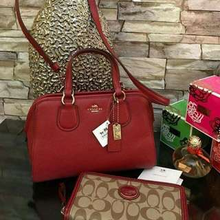 Coach Bag With Wallet And Perfume