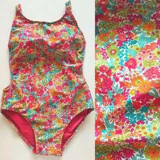 Low Back Floral Swimsuit Swimwear