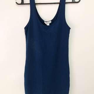 Forever 21 Dark Blue Fitted Dress
