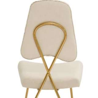 Gold Ivory Dining Chair Hollywood Regency