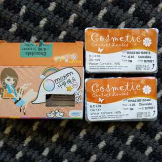 Cosmetic Contact Lenses (Chocolate)