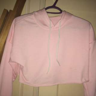 Pink Crop Sweater