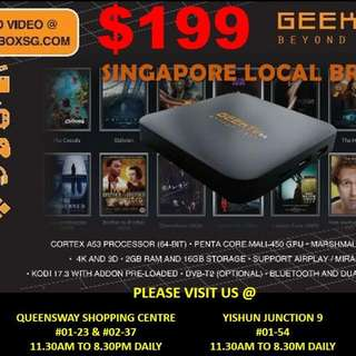 BEST SELLING SG BRAND ANDROID BOX GEEKTV 3.0