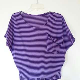 Violet Stripes Blouse