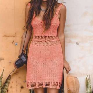 Arnhem Crochet Mini Dress