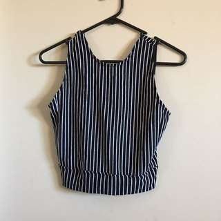 New With Tags Crop Top Striped