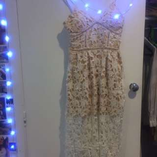 Showpo White Crochet Dress