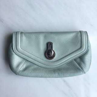 New with Tags: Raoul Britt Grained Leather Clutch
