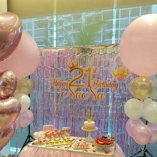 Helium Balloon Party Birthday Celebration