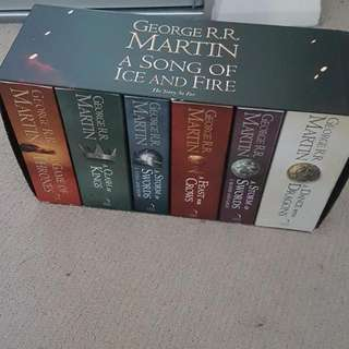 A Song Of Ice And Fire Game Of Thrones Complete 7 Book Set