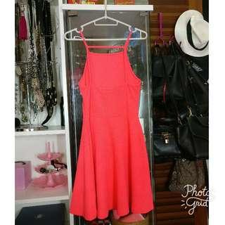Vibrant/Neon Orange Dress