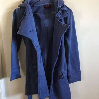 Thick Blue Winter Jacket Coat