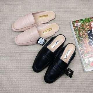 《早·衣服》七月盛夏🌞百搭復古英倫風英國品牌半拖鞋方頭穆勒鞋小皮鞋(預)