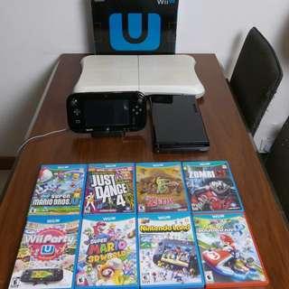 Wii U + Games + Pro Contrôler + Fit Board