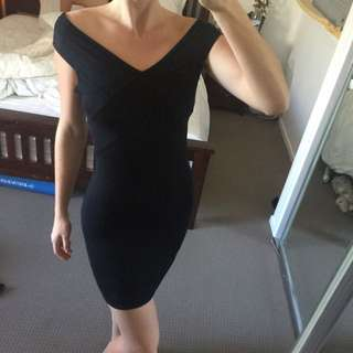 Simple Black Dress Off The Shoulder