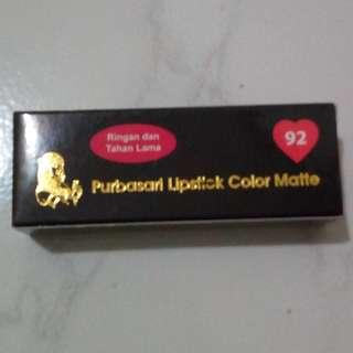 lipstik purbasari no 92 ( warna best seller )