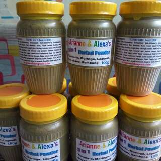 5in1 Herbal Powder Turmeric, Moringa,lagundi,guyabano,sambong