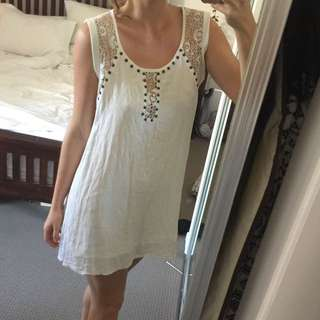 White Beach Dress Flowing Comfy