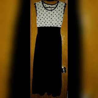 Long Dress With Polka Top