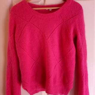 Nicholas hot pink angora jumper S Small