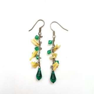 Green Handmade Earrings