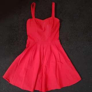 Red ASOS Dress Size 8 UK