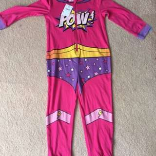 Onesie Pajama Superhero for Girls