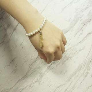 珍珠垂墜流蘇典雅手鍊