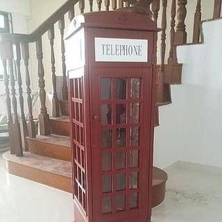 London Phone Booth Book Shelf