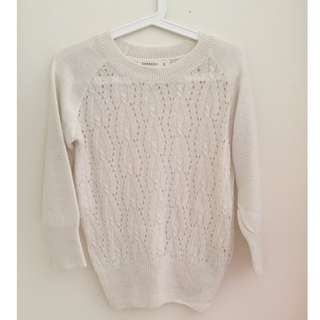 ZARA White/Beige Knit