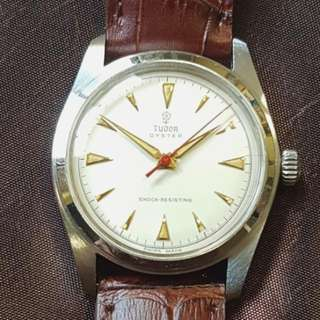 1954 Tudor Small Rose Oyster Manual Watch 34mm