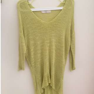 ZARA Lime Knit