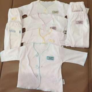 Baju & Celana Tutup Kaki Newborn Lengan Panjang