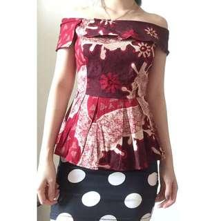 Batik Sabrina Maroon
