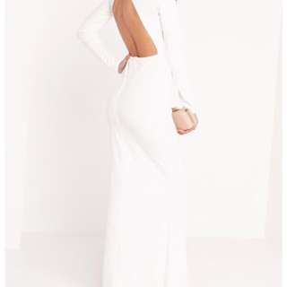 Misguided White Formal Dress