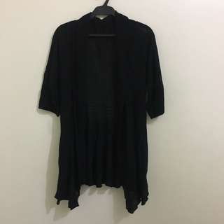 Black Knitted Long Cardigan