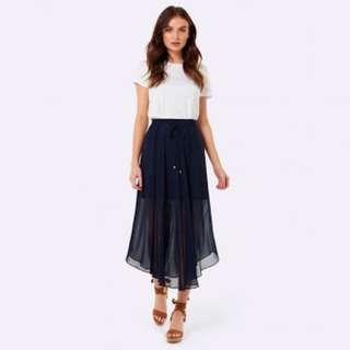 Forever new Navy skirt dress flowey