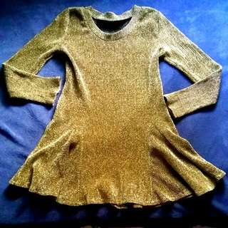Gold Longsleeved Dress