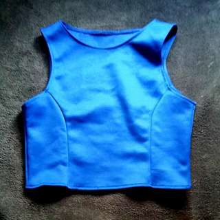 Royal Blue Croptop