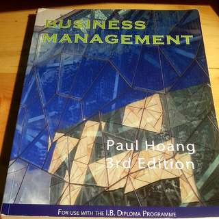 IB Business Management Textbook (3rd ed)