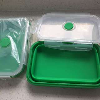 2 Collapsible Food Containers