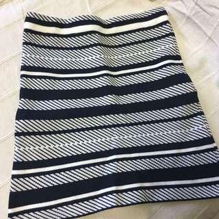 條紋針織包臀裙