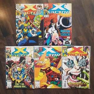 X-Factor  (Vol.1) #87/88/90/91/93