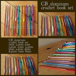 CB ALUMINUM CROCHET HOOK SET