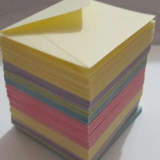 Handmade custom small envelopes pastel colours
