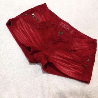 TRUCE Red Shorts
