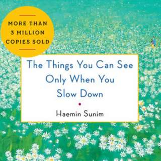 The Things You Can See Only When You Slow Down : How to be Calm in a Busy World - Haemin Sunim (eBook)