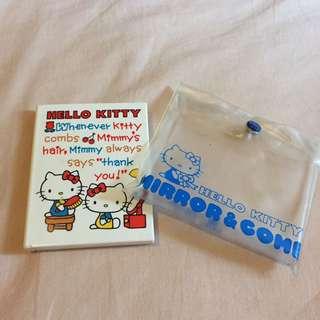 絕版1976 Hello Kitty Sanrio 鏡盒梳